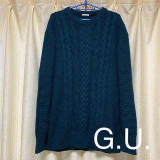 GU - GU メンズ ニット セーター XL グリーン