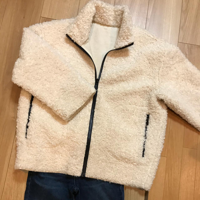 Adam et Rope'(アダムエロぺ)のROPEボアジャケットコート レディースのジャケット/アウター(毛皮/ファーコート)の商品写真