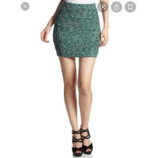 エモダ(EMODA)のEMODA ツイード タイトスカート ニットタイトスカート(ミニスカート)