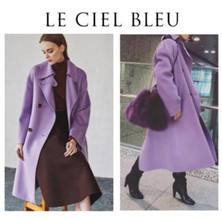 LE CIEL BLEU - 18AW完売☆Double Faced Wrap Coat