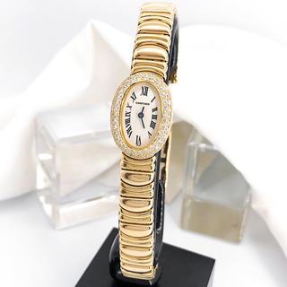 Cartier - 【仕上済】カルティエ ミニベニュワール K18 ブレス ダイヤ 腕時計