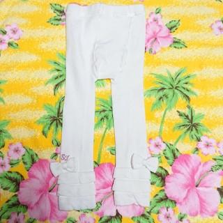 Shirley Temple - シャーリーテンプル♥リボン付きレギンス♥白♥フリーサイズ