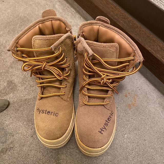 HYSTERIC MINI(ヒステリックミニ)のヒスミニ ブーツ 16〜17 キッズ/ベビー/マタニティのキッズ靴/シューズ(15cm~)(ブーツ)の商品写真
