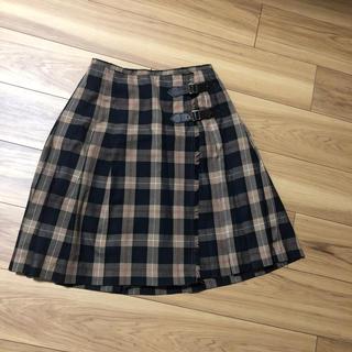 テチチ(Techichi)のlugnoncure チェックラップスカート(ひざ丈スカート)