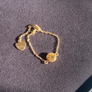 イエローダイヤモンド チェーンリング(リング(指輪))