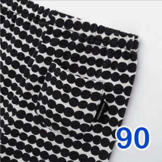 UNIQLO - 新品【ユニクロ×マリメッコ】レギンス 90 白×黒