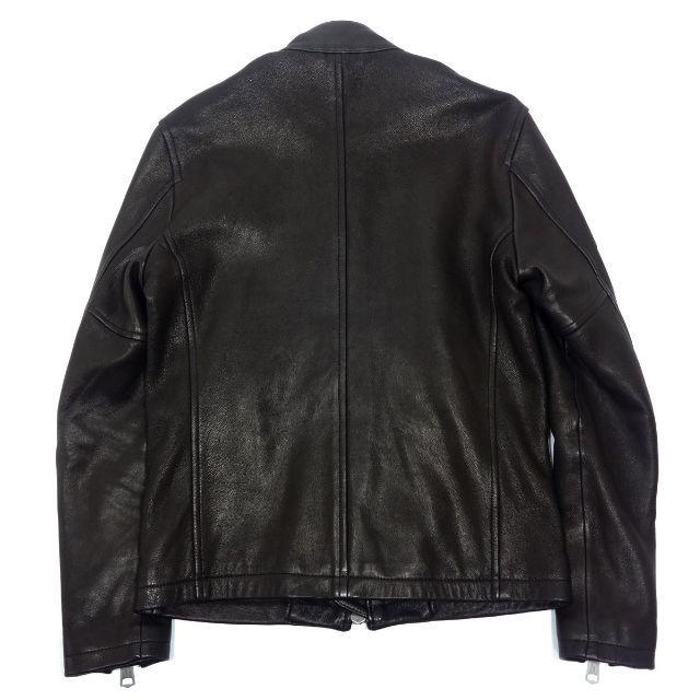 JACKROSE(ジャックローズ)のJACK ROSE ジャックローズ ゴートレザー シングル ライダース 3 メンズのジャケット/アウター(ライダースジャケット)の商品写真