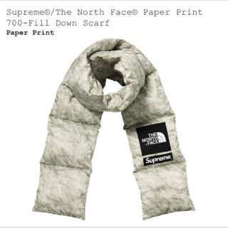 Supreme - 新品 supreme north face paper down scarf