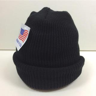 ロスコ(ROTHCO)のロスコニット帽 ブラック BLACK 新品(ニット帽/ビーニー)