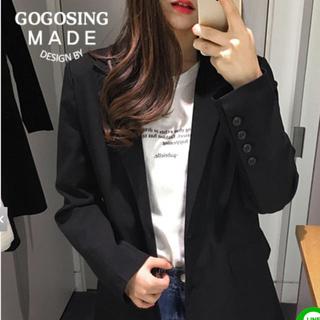 ゴゴシング(GOGOSING)のGOGOSING シックBLACKジャケット(テーラードジャケット)