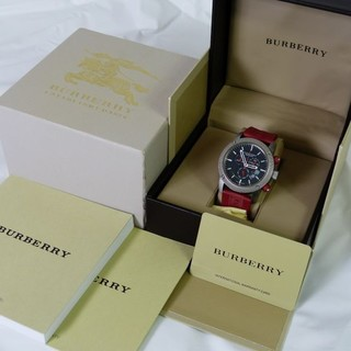 BURBERRY - スポーツクロノ BU7706 バーバリー デイデイト 腕時計