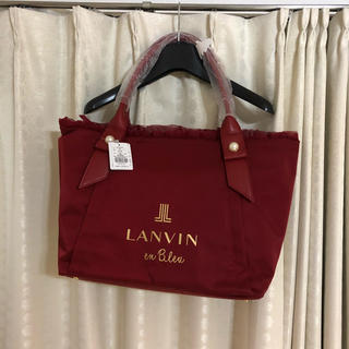 LANVIN en Bleu - ★新品★LANVIN en Blue トートバッグ 赤