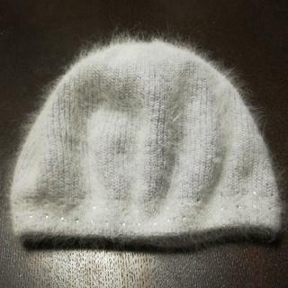 【値下げ】アンゴラ混 ベレー帽 BARNEYS NEWYORK