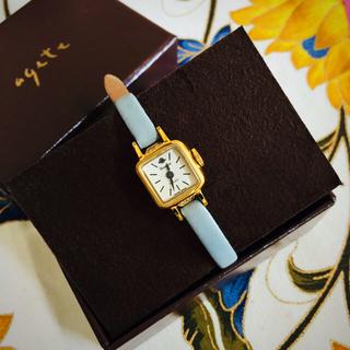 アガット(agete)のロゼモン   廃盤レアベルト アンティーク調ジュエリーウォッチ(腕時計)