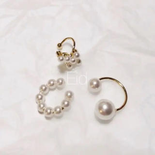 nano・universe - Pearl earcuff 3set No.139