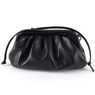 Bottega Veneta - ブラック 黒 ソフトレザー クラッチ ショルダー 新品