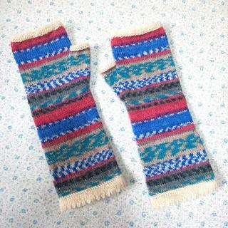 手編みの靴下とハンドウォーマー にゃんたま様専用ページ(手袋)