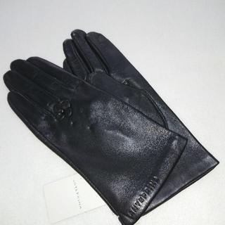 ANTEPRIMA - 新品 アンテプリマ レザー 革手袋 羊革 ブラック 21㎝
