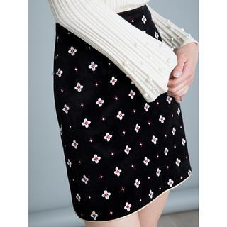 Lily Brown - 新品/正規品 小紋刺繍台形スカート