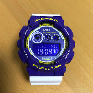 CASIO - 【美品】CASIO G-SHOCK GD-120 パープル×ホワイト 反転液晶