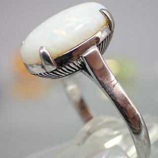 【特価販売】クラシカルホワイトオパールリング (リング(指輪))