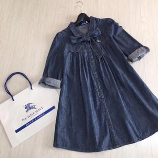 BURBERRY BLUE LABEL - 美品☆バーバリーブルーレーベル 七分袖 シャツワンピ 38サイズ
