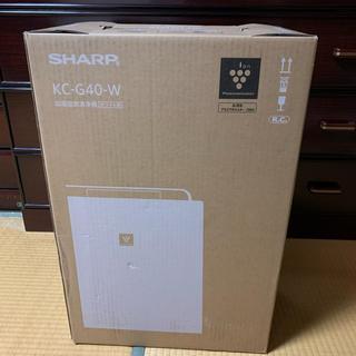 シャープ(SHARP)のシャープ 加湿空気清浄機 KC-G40-W 新品未使用(加湿器/除湿機)