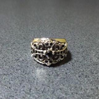 激安★リング クロス クロムハーツ系 ブラック シルバー(リング(指輪))