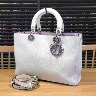 Dior - 良品 ディオール ディオリッシモ 2WAYハンドバッグ 白 レディディオール