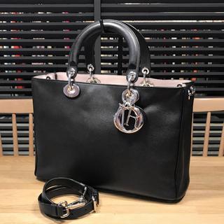 Dior - 良品 ディオール ディオリッシモ 2WAYハンドバッグ 黒 レディディオール