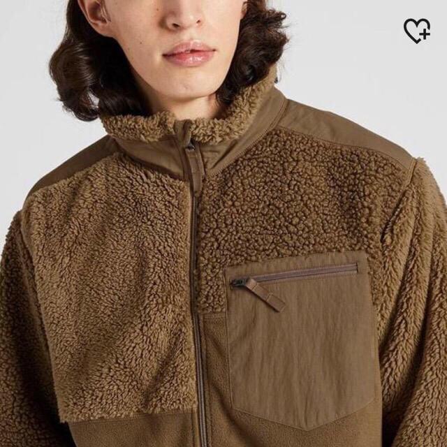 UNIQLO(ユニクロ)の【新品•未使用•タグ付き】コンビネーションフリースジャケットLサイズBEIGE メンズのジャケット/アウター(ブルゾン)の商品写真