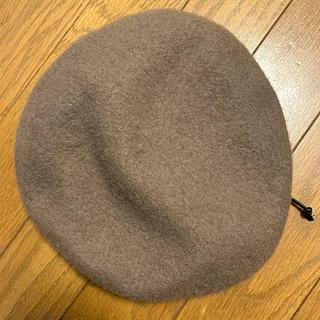 ベレー帽 ベージュ(ハンチング/ベレー帽)