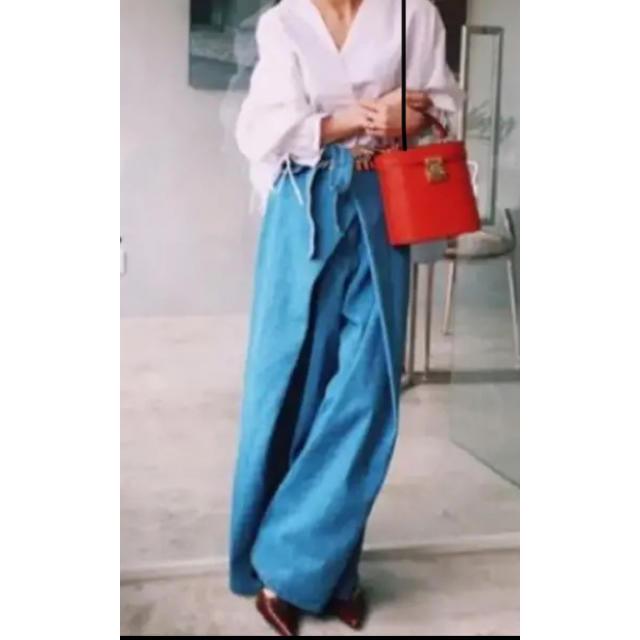 Ameri VINTAGE(アメリヴィンテージ)のアメリヴィンテージ♡巻きスカート風デニム レディースのパンツ(デニム/ジーンズ)の商品写真