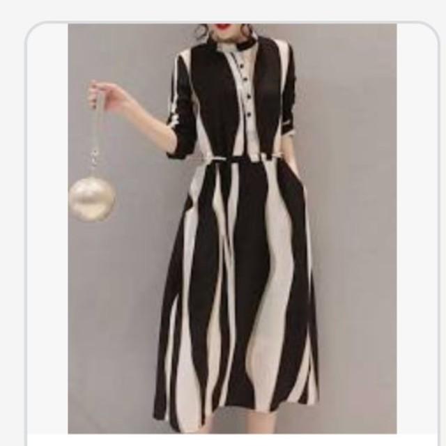 結婚式 ワンピース 膝下 レディースのフォーマル/ドレス(ミディアムドレス)の商品写真