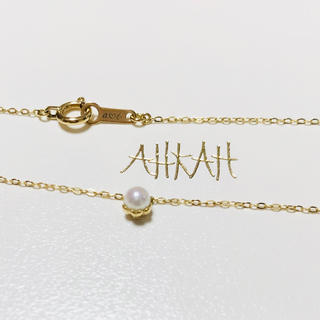 AHKAH - 美品 AHKAH ティアペル ネックレス 一粒パール 深田恭子さん着用