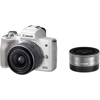 Canon - canon EOS kiss M ダブルレンズキット 白 新品未使用