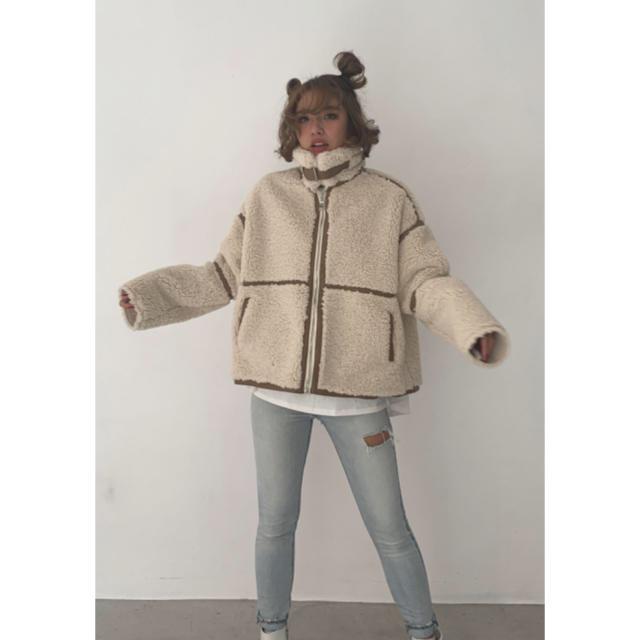 TODAYFUL(トゥデイフル)の【cheri】Flight boa Jacket ボアジャケット レディースのジャケット/アウター(ブルゾン)の商品写真
