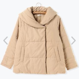 中綿ショールカラージャケット ベージュ