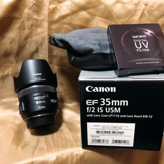 Canon - 【Canon】EF35mm F2 IS USM レンズフィルター付