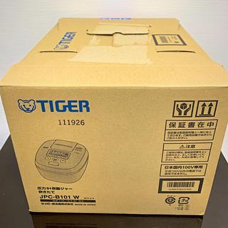 TIGER - 【未使用品】TIGER 炊飯器 JPC-B101 W ホワイト