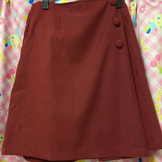 ユメテンボウ(夢展望)の夢展望 3ボタン台形ラップスカート (ひざ丈スカート)