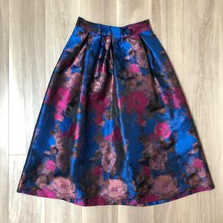 ローズバッド(ROSE BUD)のROSE BUD 花柄スカート(ひざ丈スカート)
