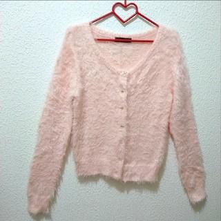 しまむら - 美品 しまむら ハローキティ ピンク シャギー ニット カーディガン♥️M GU