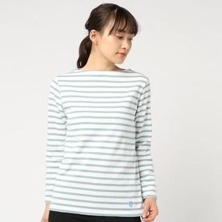 ORCIVAL - 新品☆オーシバル バスクシャツ ボーダー カットソー ホワイト/グリーン 2