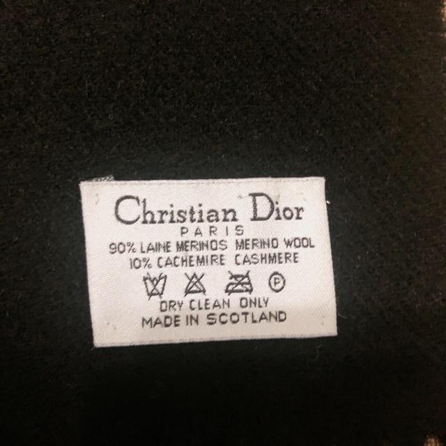 Christian Dior(クリスチャンディオール)のみぃ様専用 マフラー ブラック ホワイト2点セット レディースのファッション小物(マフラー/ショール)の商品写真
