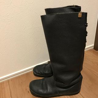 コース(KOOS)のkoosブーツ 38 ブラック(ブーツ)