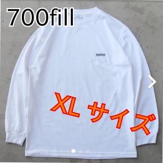 【新品】700fill power payment logo ロンT  XL(Tシャツ/カットソー(七分/長袖))