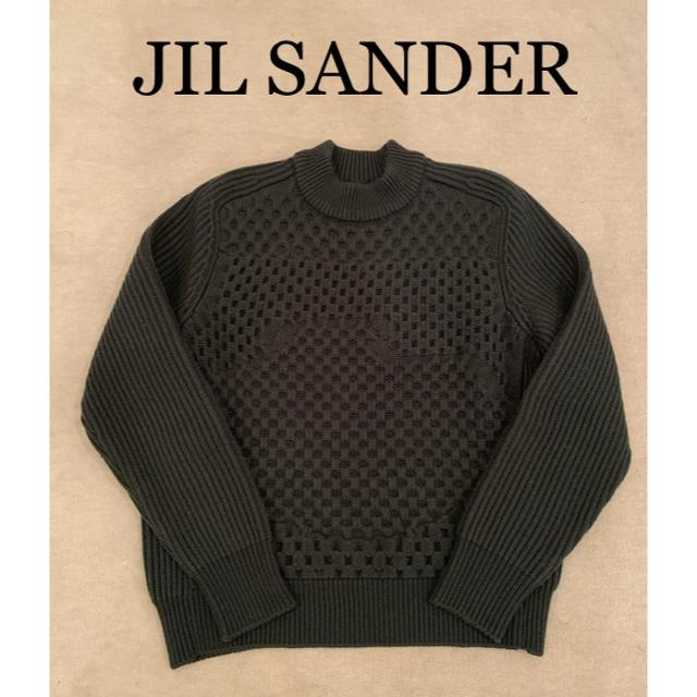 Jil Sander(ジルサンダー)のJIL SANDER【ジルサンダー】グレー セーター サイズ46 メンズのトップス(ニット/セーター)の商品写真