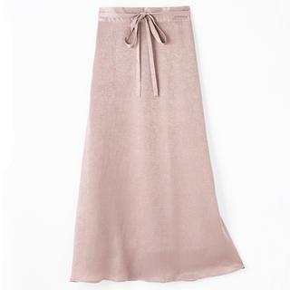しまむら - しまむら プチプラのあや サテンマキシ丈スカート