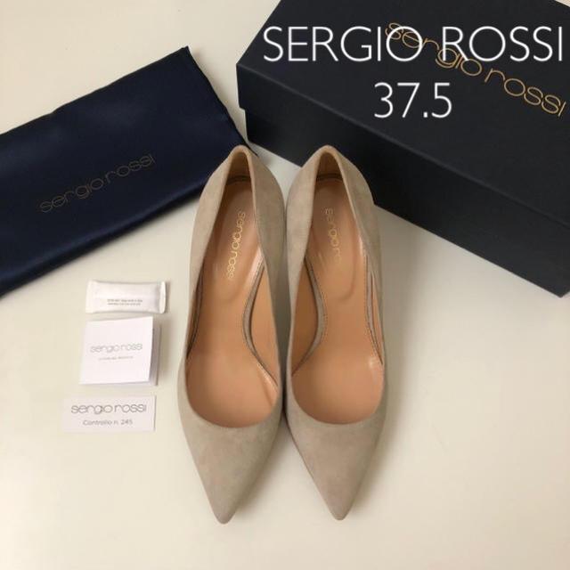 Sergio Rossi(セルジオロッシ)の未使用 新品 裏張り済 ★ セルジオロッシ スエードパンプス 37.5 レディースの靴/シューズ(ハイヒール/パンプス)の商品写真